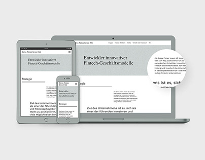 Swiss Fintec Investiert AG — Analyse, Kommunikation,Web