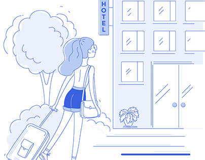 Flat illustrations for web page