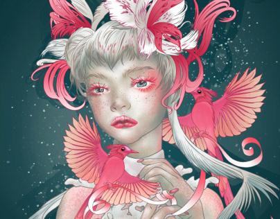 La fille aux oiseaux du paradis