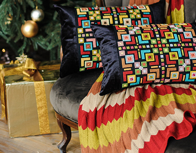 XMAS DECOR from KAANNI - handmade embroidered pillows