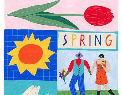Spring Fever- Personal Illustration