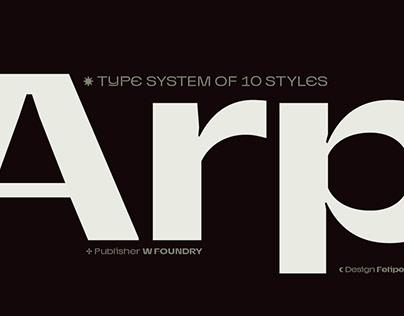 Arp Typeface