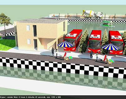 3D Model of a Proposed Resort