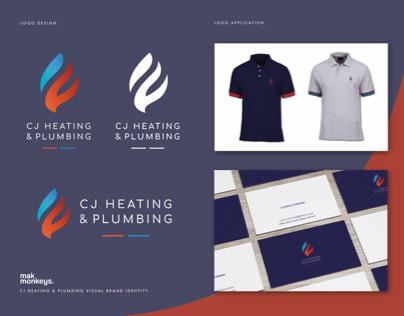 CJ Heating & Plumbing Branding.