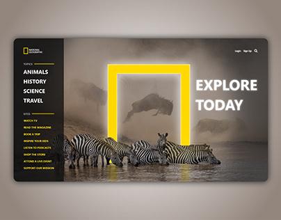 Natgeo Homepage Concept