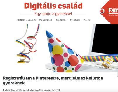 Vodafone Digitális Család website