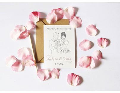 wedding invitation • Andrea + Stella •