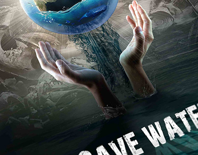 Save water. Eco Poster. Printing design.