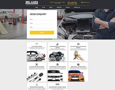 Creative Web Design for MR. CARS