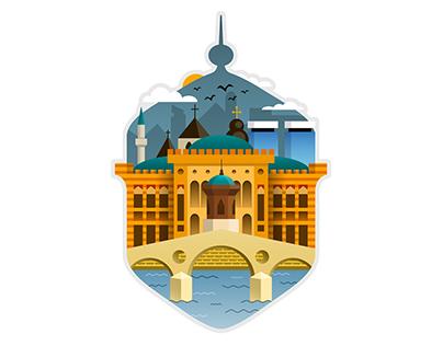 Sarajevo illustration