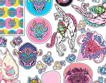 sweet bright vinyl stickers