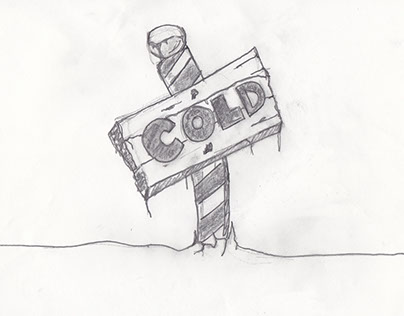 "Word Illustration Project - ""CALM & COLD"""