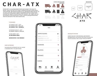 Char ATX Food Truck App Design