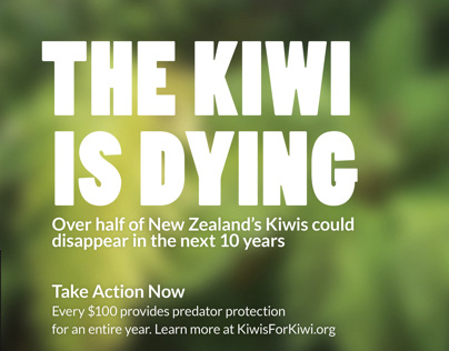The Kiwi Is Dying Advertisement