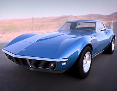 1968 Chevrolet Corvette 3D Render