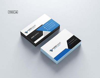 Company Business Card PSD Template Free Download