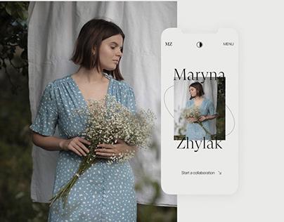 Photographer Portfolio Website – Maryna Zhylak