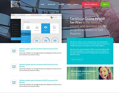 Caribbean Online Payroll Services Website Design