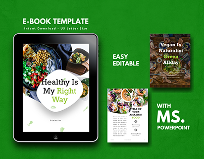 Vegan Theme Recipe eBook Design