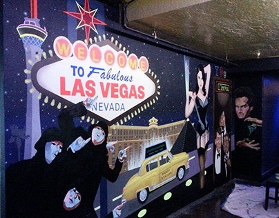 Sandy Station Vegas Nightlife Mural