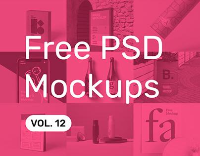 Free PSD Mockups vol. 12