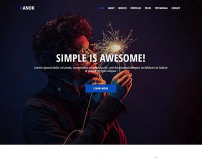 Kanok - Responsive Portfolio Template