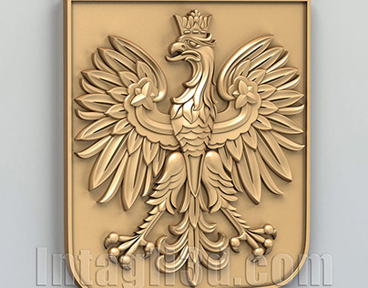 3D-model of Coat of arms of Poland