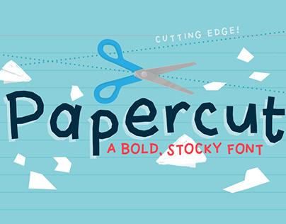 Papercut Font