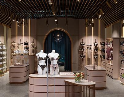 Lingerie showroom Silenza for Dreamdesign.
