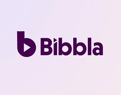 Animated logo: Bibbla.