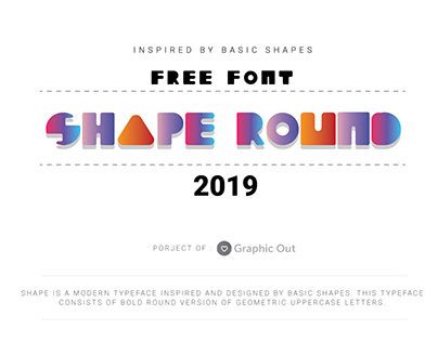 Shape Font (Round Version)