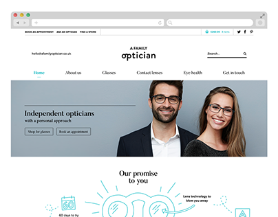 A Family Optician — brand identity