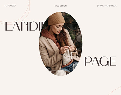 Landing Page for online Knitting courses