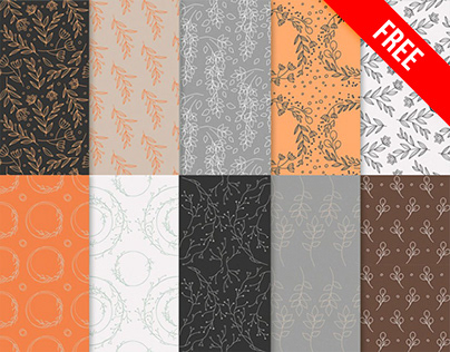 Free Floral Patterns PSD Templates