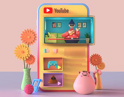 Youtube - Fun 3D UI Illustration