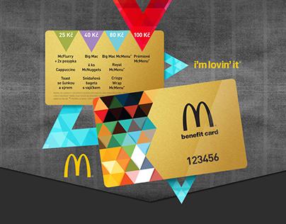 McDonald's – design of benefit cards