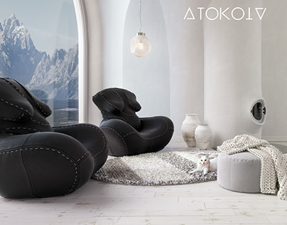 """Nagababa"" armchair by ATOKOTA"