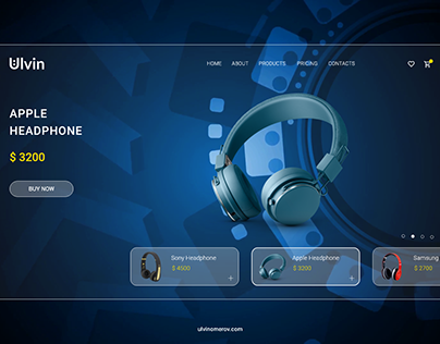 Smart Window Display UI UX Headphone Webdesign