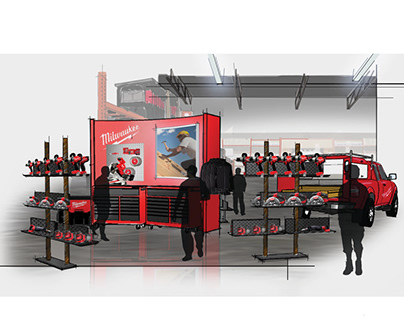 Milwaukee tools store in store