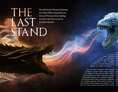 Magazine Spread Concept: Game of thrones.