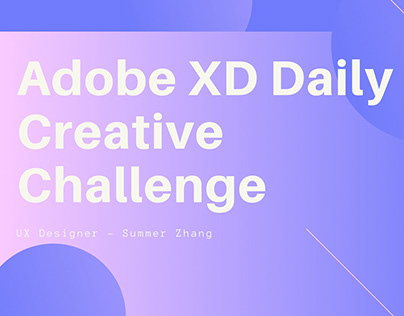 Adobe XD Daily Creative Challenge Movie APP