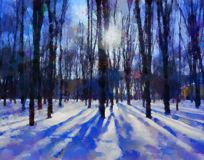 Blue shadows in the park