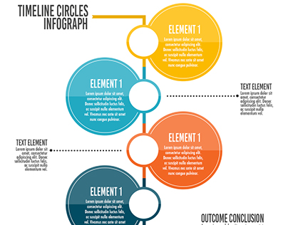Infographic Circles Timeline