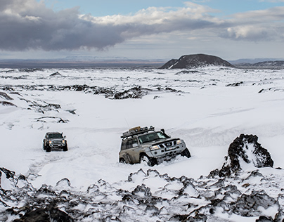 Winter expedition in the highlands of Iceland