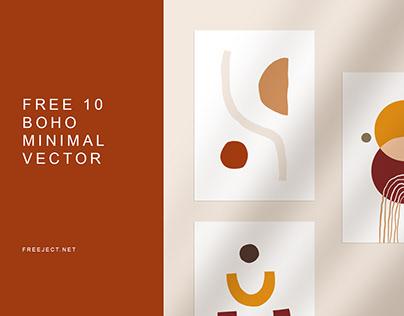 Free 10 Boho Abstract Minimalist Background