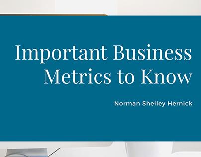 Important Business Metrics | Norman Shelley Hernick