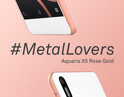 BQ Aquaris X5 Rose Gold. Social Media Launching