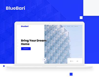 BlueBari Real Estate Landing Page