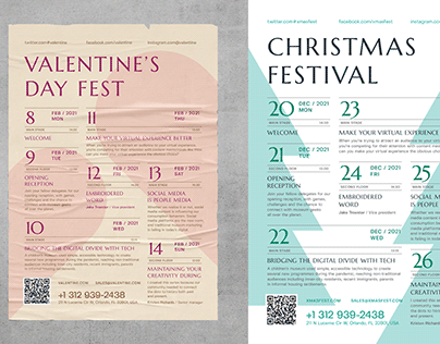 Holiday Schedule Poster Template