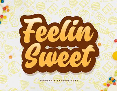 Feelin Sweet Regular & Extrude Font